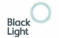 Black light logo in dark blue text on white background