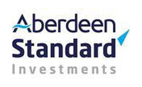 Aberdeen Standard Investments Logo, blue and grey text on white