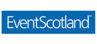 Event Scotland logo, white text on blue background